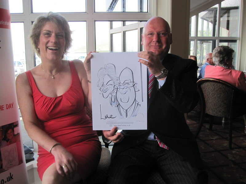 wedding caricature Ballygally 2