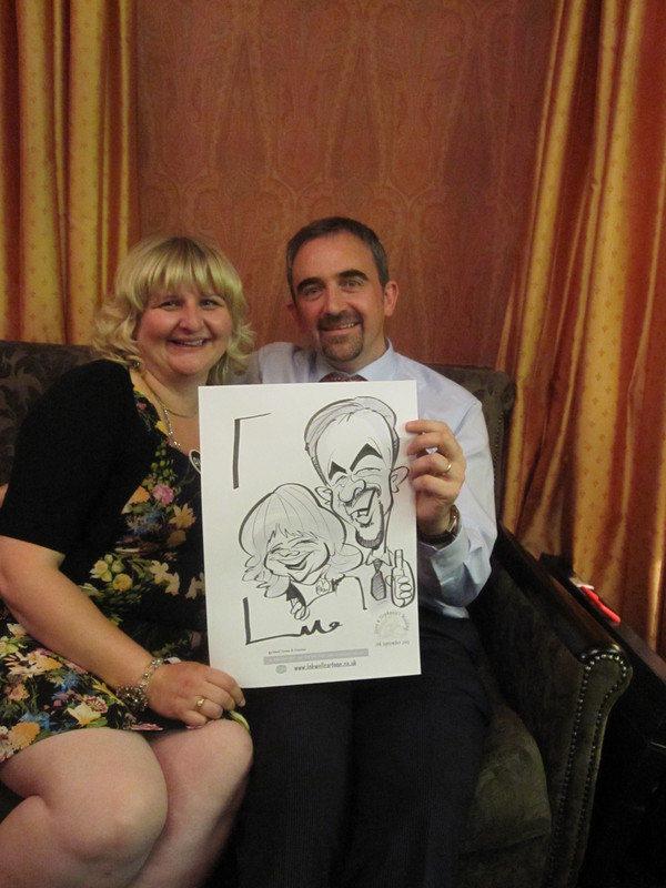 Live caricature Old Inn
