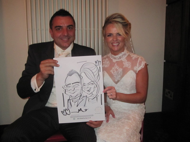 Redcastle live caricature