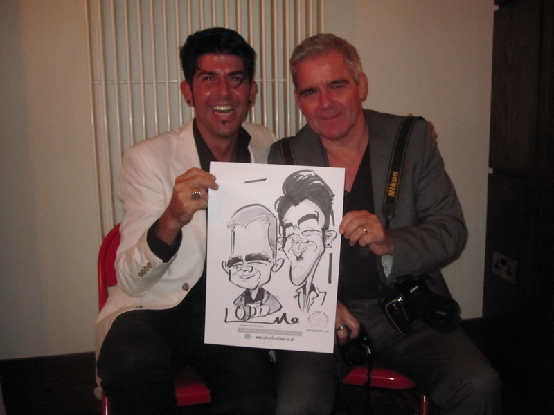 Redcastle live caricature 2