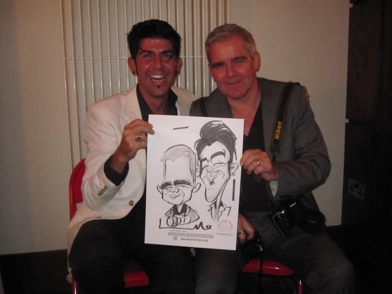 Redcastle live caricature 2