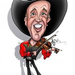 Fiddler Adam full colour caricature