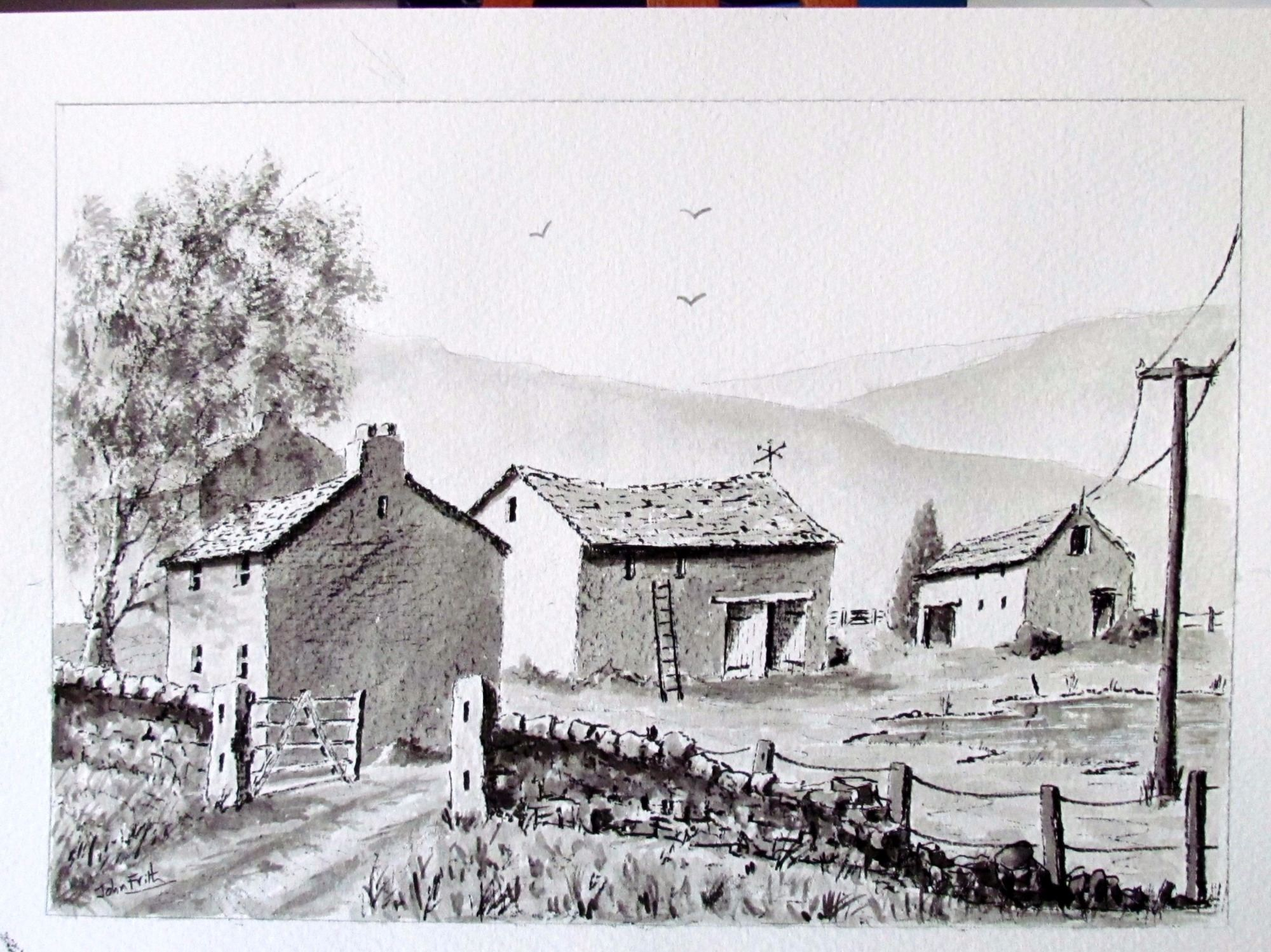 Sketch of a Cumbrian Farm