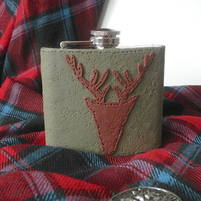 Scottish Gift Men Stag Hip Flask