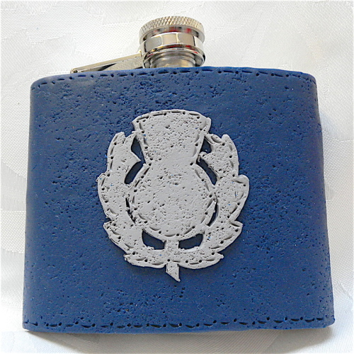 Scottish Thistle Hip Flask, Gifts for Men, Bestman Gift, Celtic Flask
