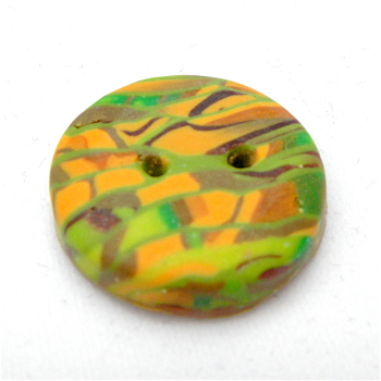 Green and Gold Handmade Buttons