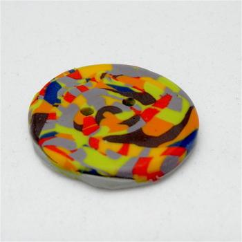 Multi Coloured Handmade Button