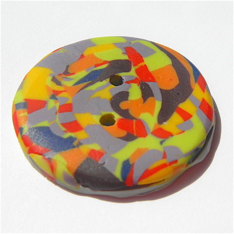Multi Coloured Handmade Buttons