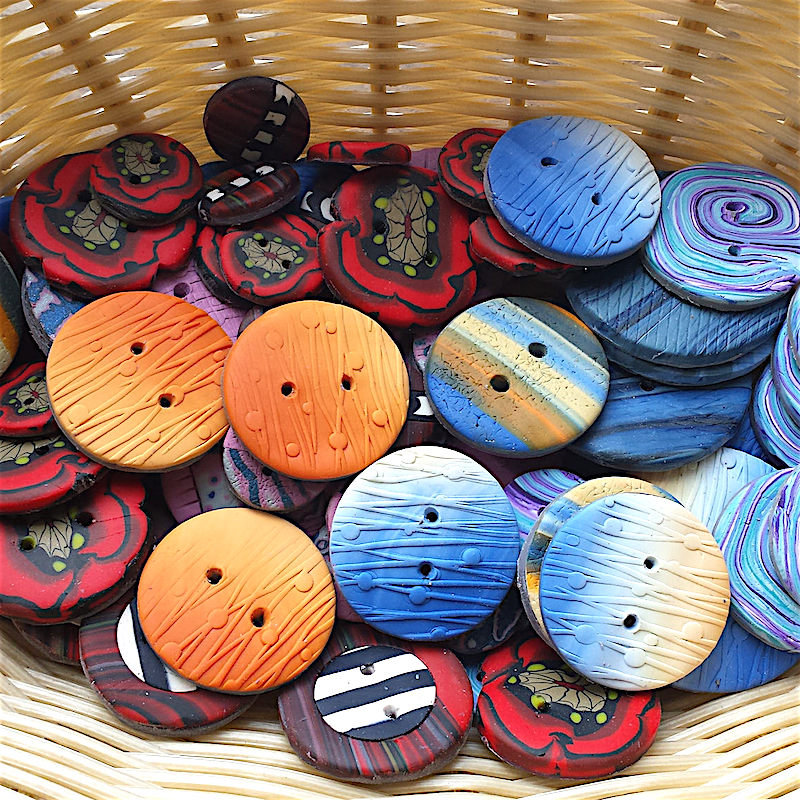 Handmade buttons from the UK, small buttons, large buttons for sewing and craft projects