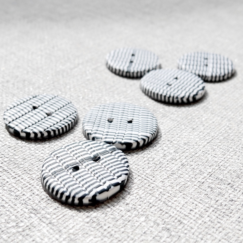 Black, White and Grey Handmade Buttons