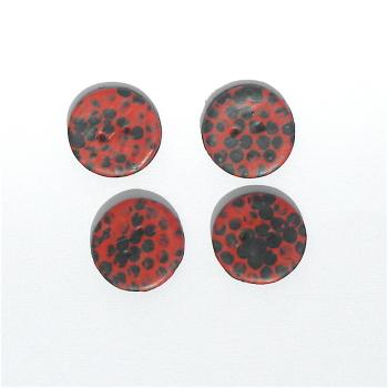 Modern Handmade Buttons Red