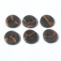Small Brown and Copper Buttons, 20mm Handmade Round Buttons