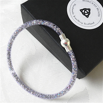 Sparkle Mesh Bracelet with Magnetic Clasp, Prom, Birthday Gift
