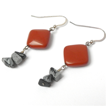 Gemstone Earrings Red Jasper