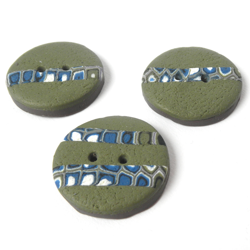Handmade Green Buttons