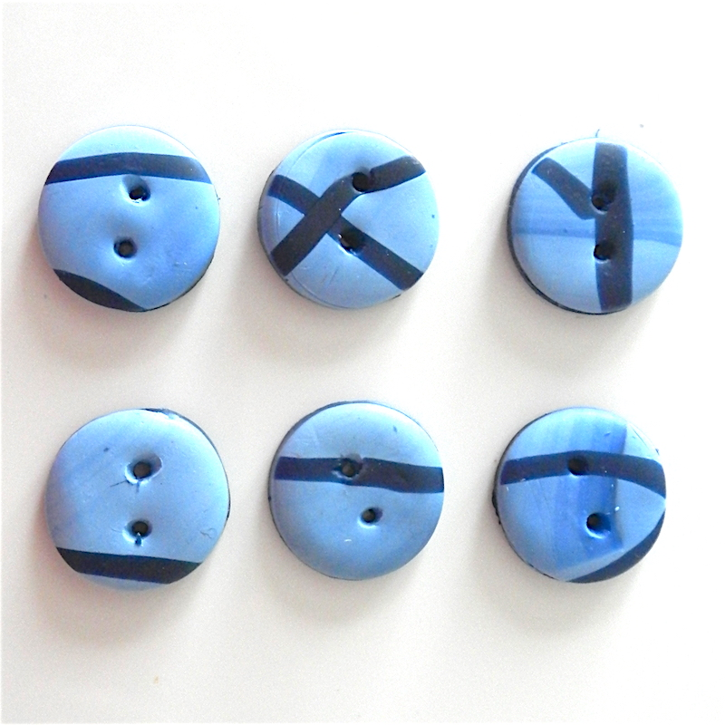 Blue and navy buttons, 20mm small blue buttons