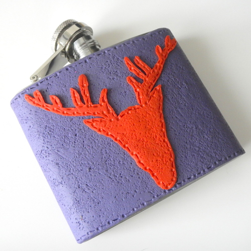 Scottish Stag Hip Flask, Unusual Gift for Men, Whisky Flask