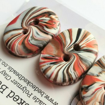 Oval, striped Buttons, Small Oval Buttons