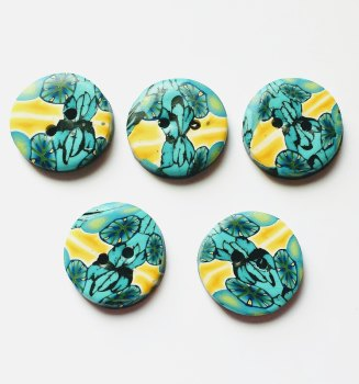 Small Buttons, Blue and Yellow Buttons