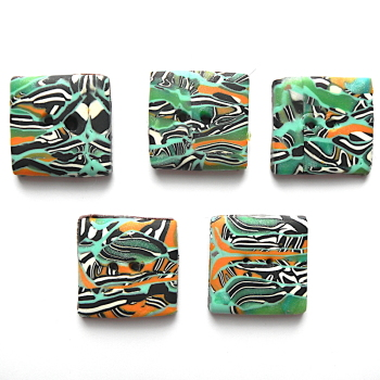 Square Buttons, Abstract Buttons, Orange, Green and Blue Buttons