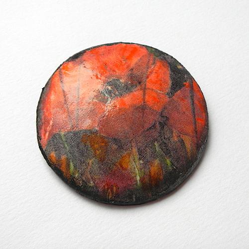 Poppy Brooch, Large Poppy Pin Lapel Pin, Poppy, Polymer Clay