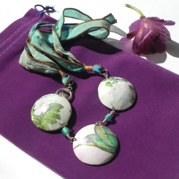 Nature Inspired jewellery, Bird and Flower Necklace,