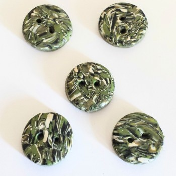 Green buttons, Stone Effect, pack 5