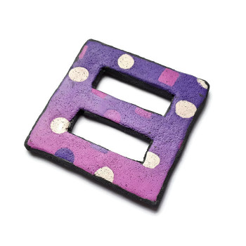 Scarf clip, Lilac and Pink Dotty Accessory