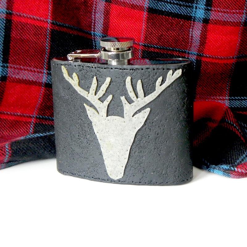Stag Hip Flasks, Gifts for Him