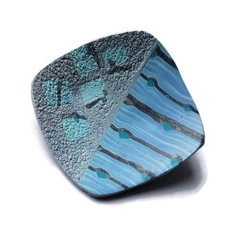 Blue Brooch, Modern Lapel Pin