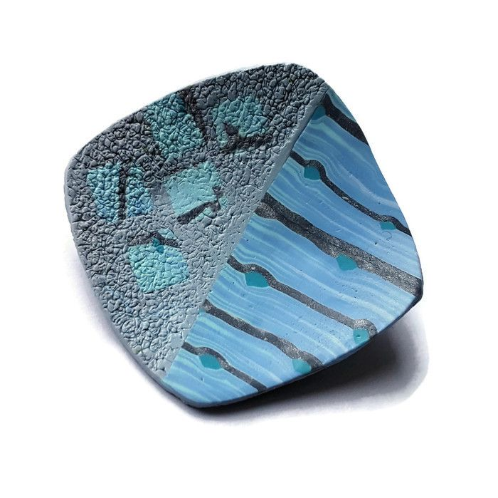 Blue Brooch, Stylish Brooch