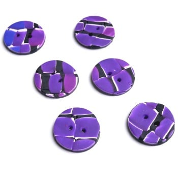Purple Pink and Black Small Buttons