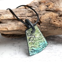 Green and Blue Reversible Necklace