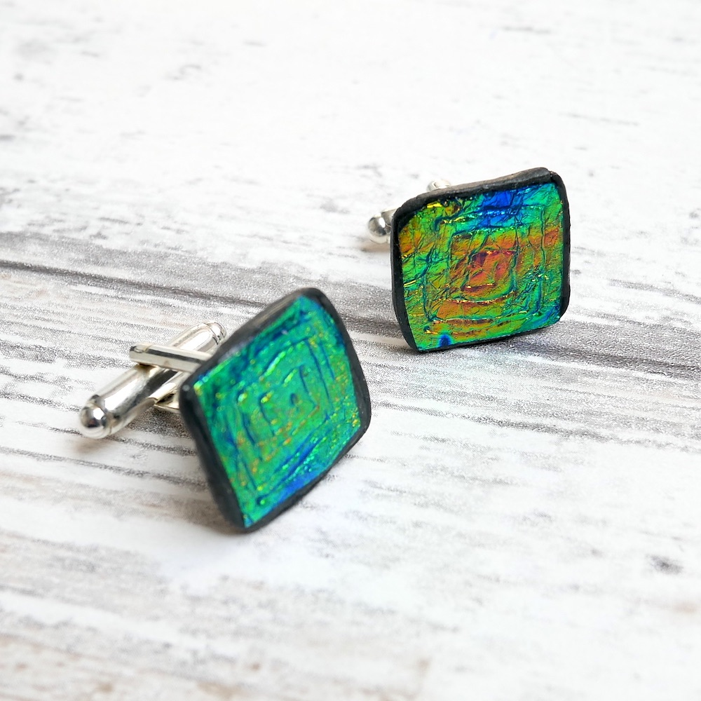 Green and Gold, Holographic Cufflinks