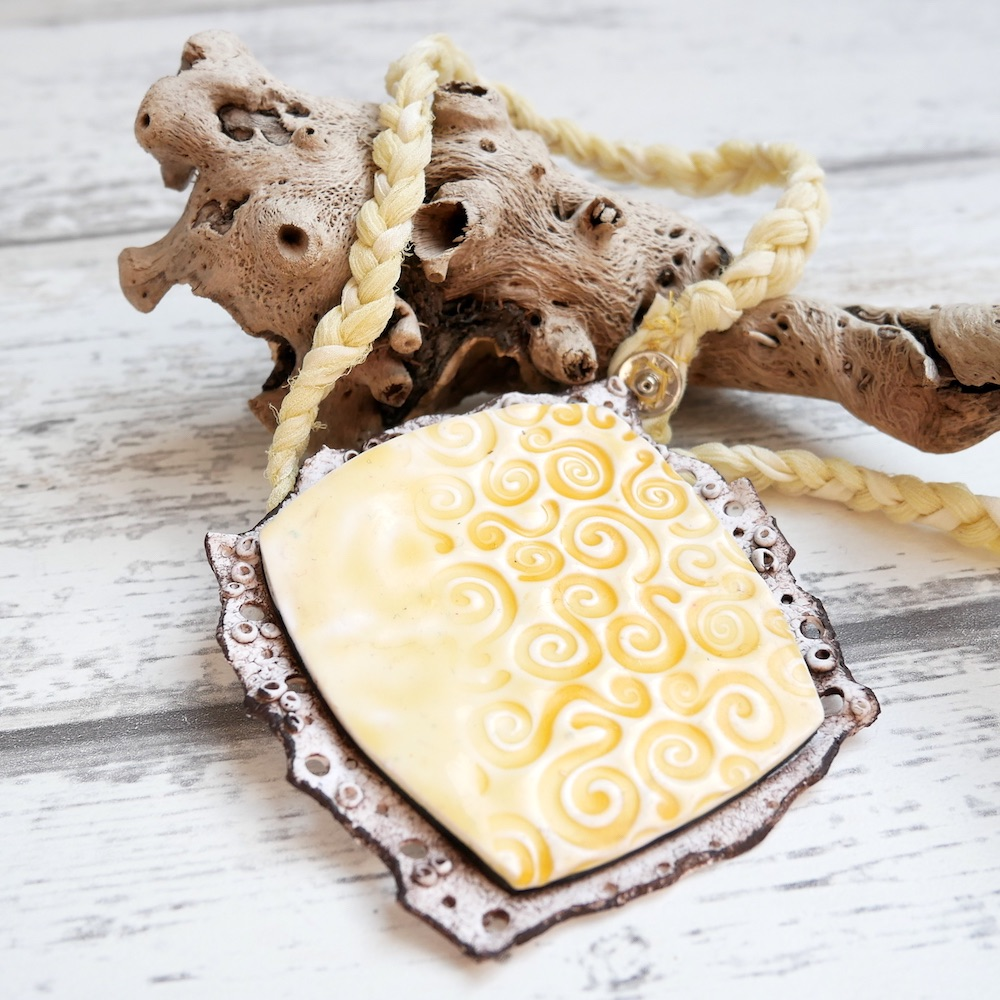 Faux Ceramic, Lemon Pendant