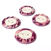 Brown and Cream, 30mm Handmade Buttons
