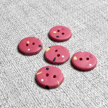 Modern Coral Buttons, Dotty Buttons