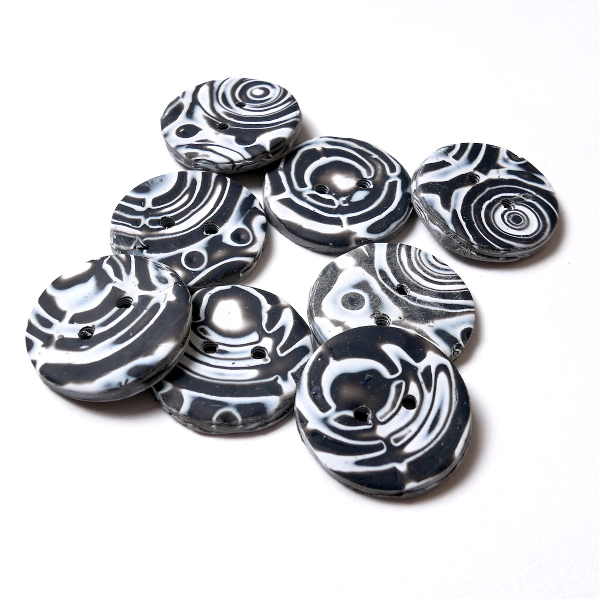 Handmade Buttons, for Sewing and Knitting