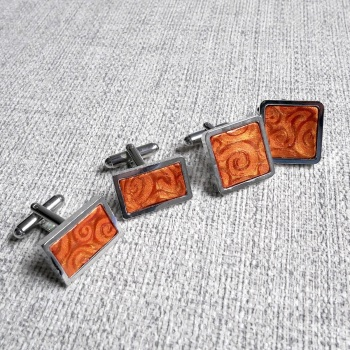Square, Rectangular, Copper Cufflinks