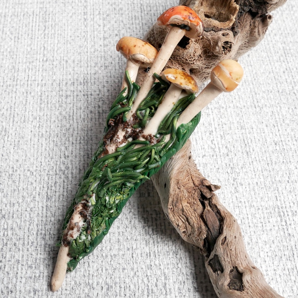 Woodland Mushroom Necklace and Brooch, Pindant