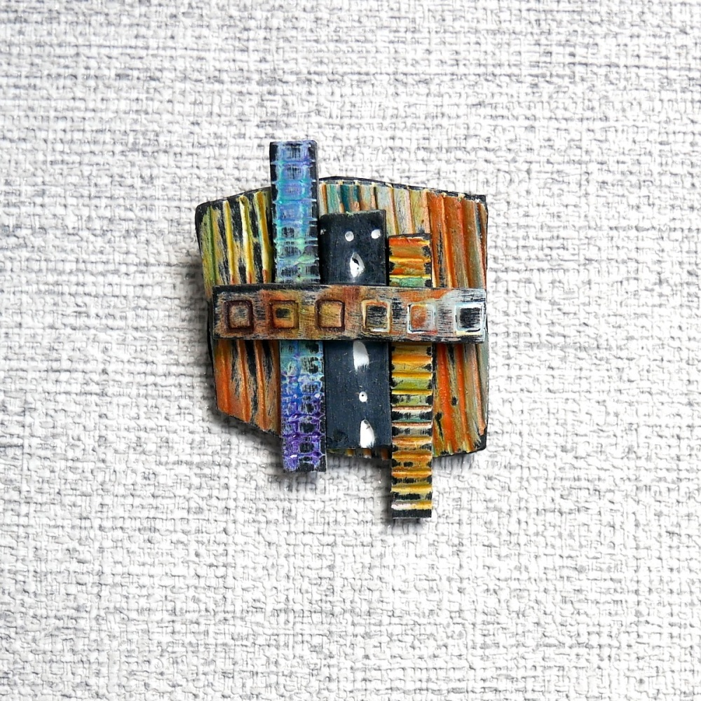 Modern Block Brooch