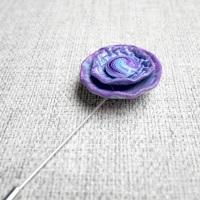 Lilac Shawl Pin, Hijab, Lapel Pin