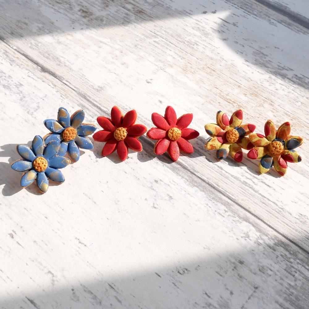 Large Daisy Earrings,Polymer Clay Earrings UK