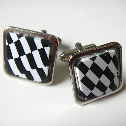 Mod Cufflinks Ska Two Tone