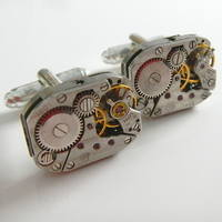 Mechanical Clockwork Cufflinks