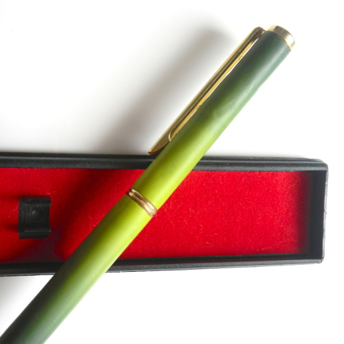 Ballpoint Pen Green and Gold Twist Action Unique Pen Gift