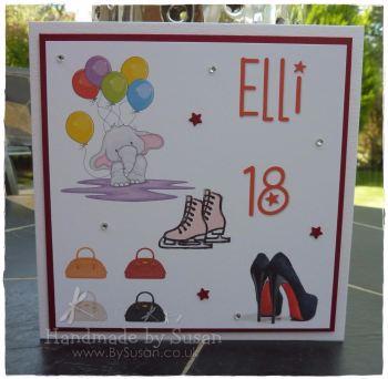 Bespoke 18th Birthday Card