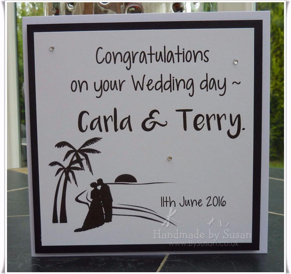 Silhouette Beach Wedding Couple