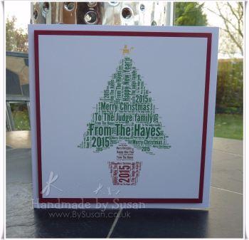 Christmas Tree in Words