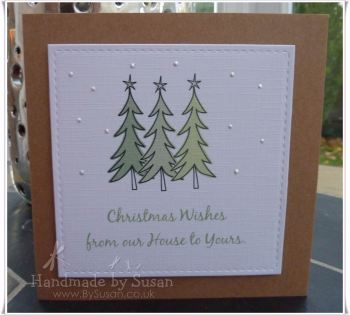 Monochrome Christmas Trees